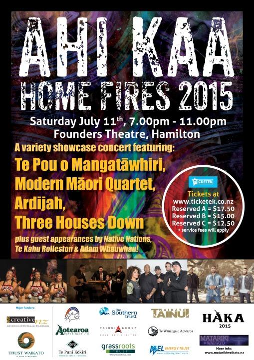 Ahi Kaa Home Fires 2015 Poster